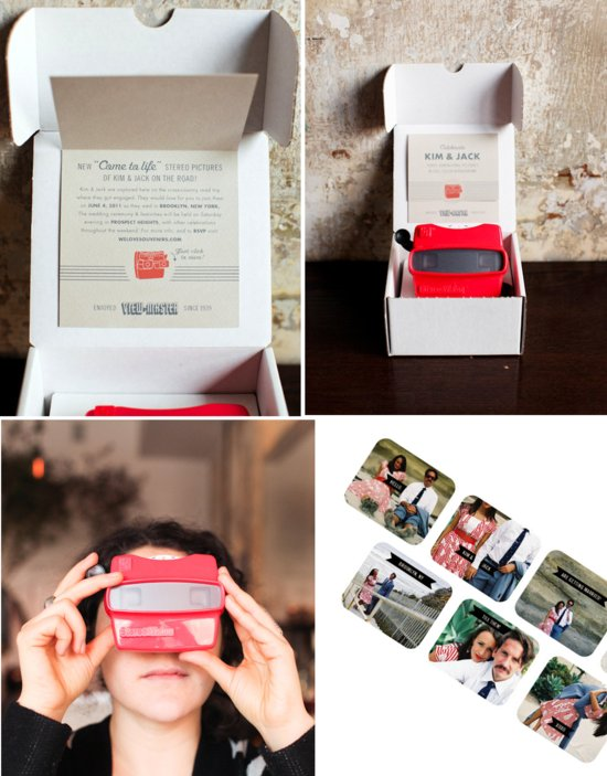 photo of Viewmaster wedding invitation