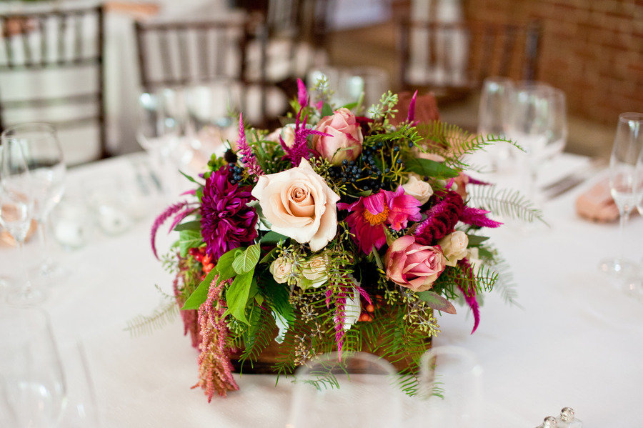 Gorgeous-wedding-centerpiece-deep-fuschia-ivory-green.full