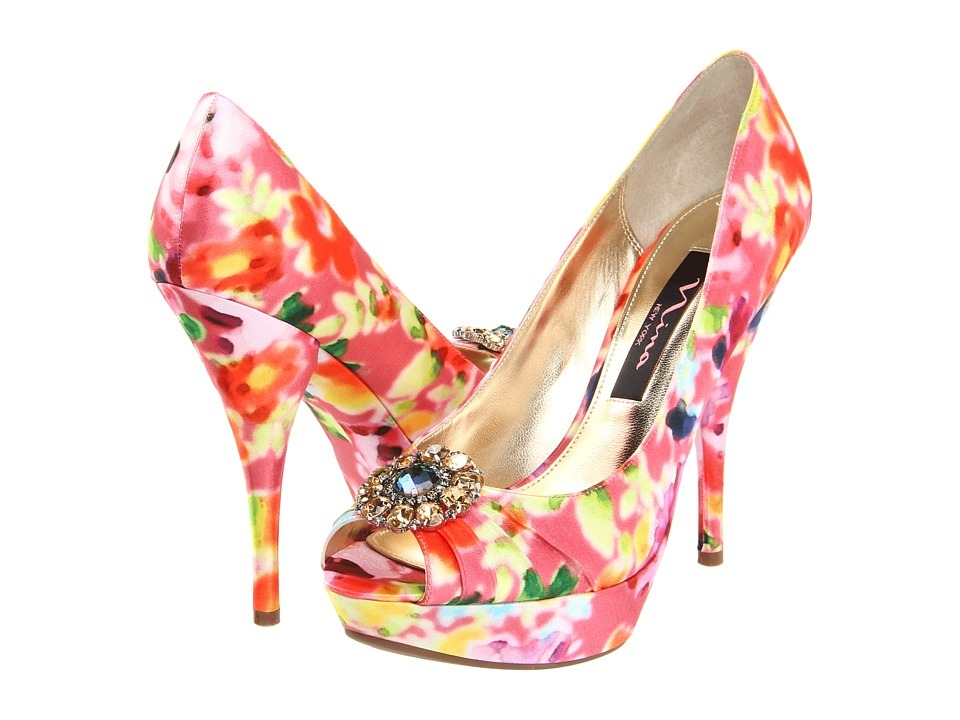 Floral-wedding-shoes-bright-peep-toe-bridal-heels.full