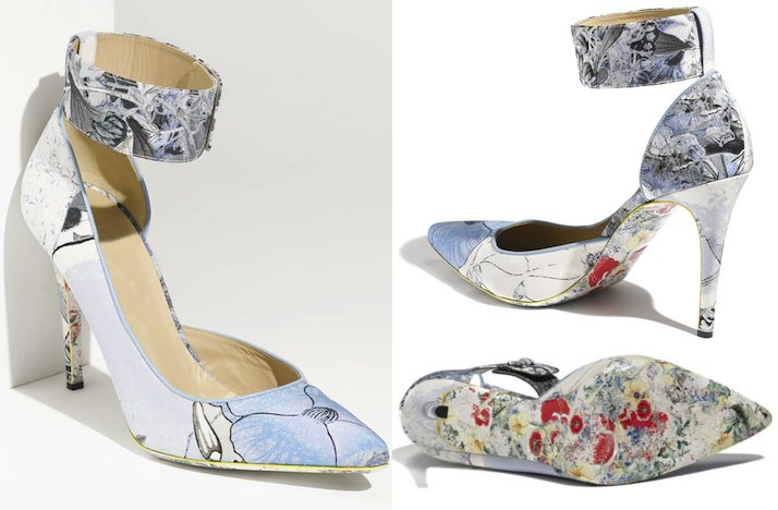 Floral-print-wedding-shoes-bridal-heels-with-ankle-strap.full