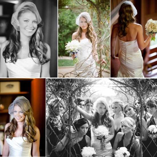 romantic wedding hairstyles all down bridal hairstyle birdcage veil