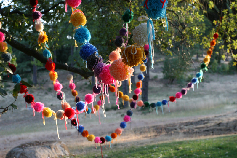 Wedding DIY Projects Pom Pom Banners 2