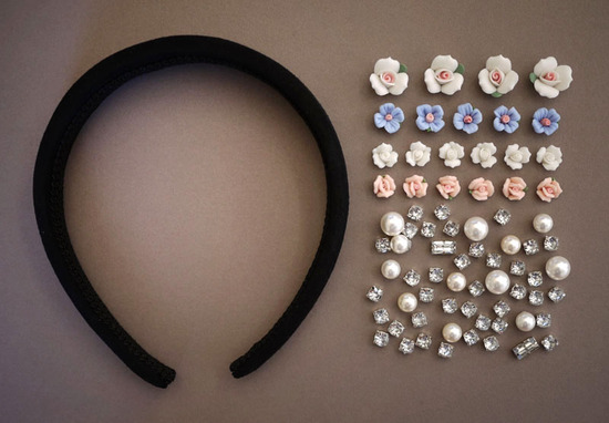 photo of dolce gabbana inspired bridal tiara wedding hair accessories DIY 2