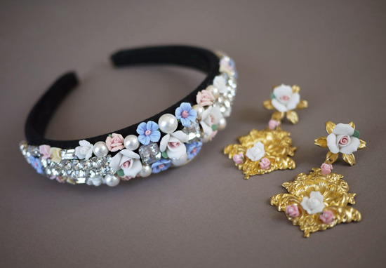 dolce gabbana inspired bridal tiara wedding hair accessories DIY 5