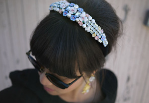 photo of dolce gabbana inspired bridal tiara wedding hair accessories DIY 6