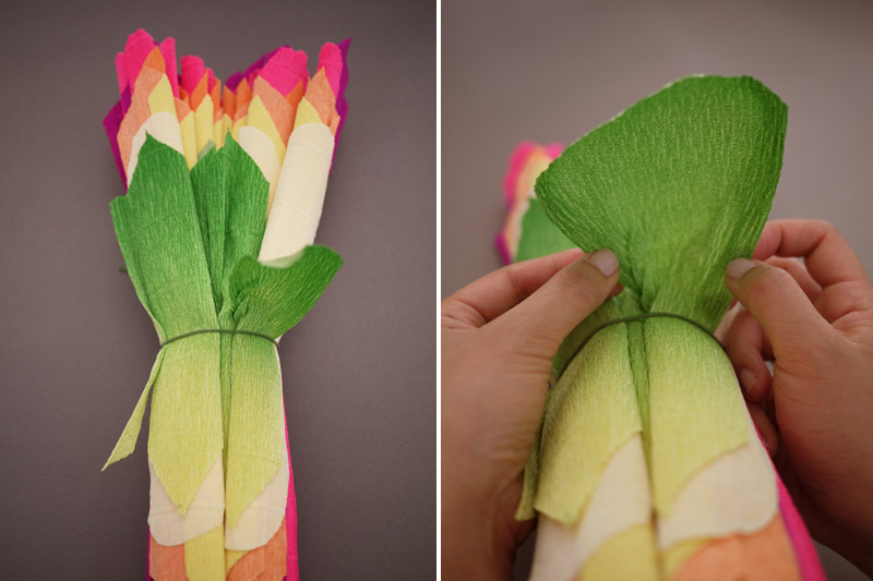 Colorful-wedding-diy-project-reception-decor-crepe-paper-flowers-9.full