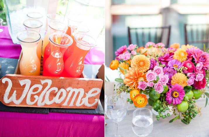 Pink lemonade wedding color palette spring summer wedding for Wedding reception ideas for spring