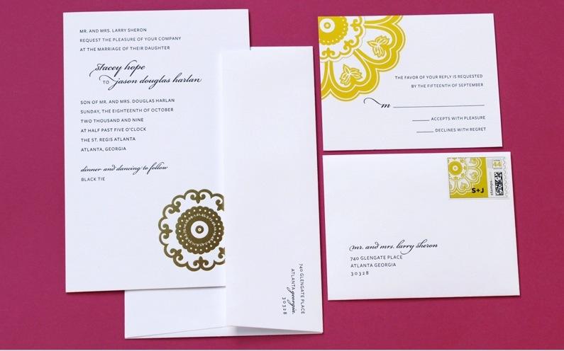 Raspberry-white-yellow-wedding-invitations-elegant-wedding-stationery-1.full