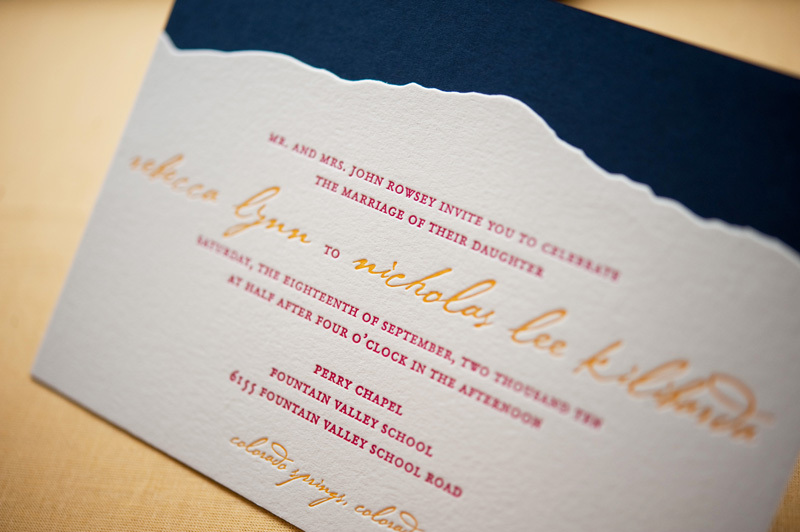 Rustic-wedding-invitations-raspberry-yellow-letterpress-calligraphy-mountain-backdrop.full
