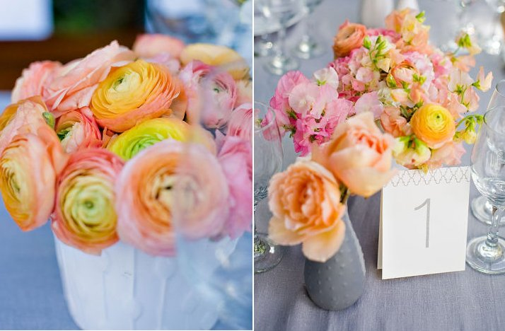 Pink lemonade wedding color palette spring summer wedding flower ideas 2 mightylinksfo