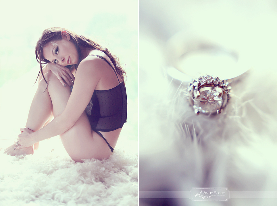 Romantic-wedding-photography-boudoir-bridal-shoot-diamond-engagement-ring-feathers.full