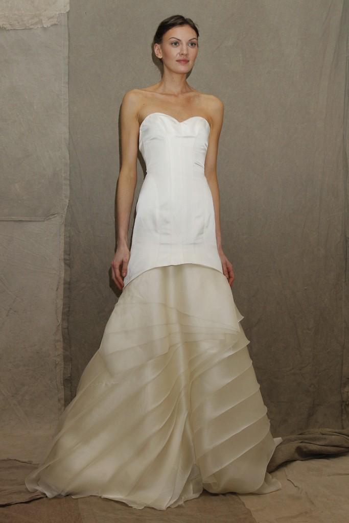 2013 Wedding Dress Trend Lela Rose Bridal Gown Two Tone