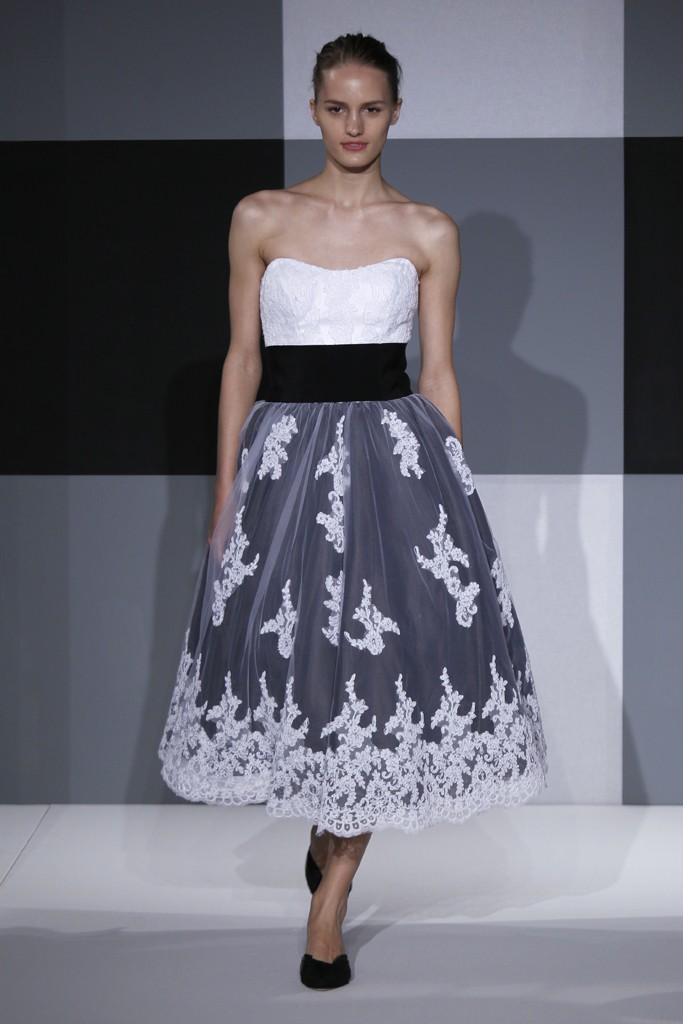 2013 wedding dress trend two tone bridal gowns black white for White wedding dress black lace