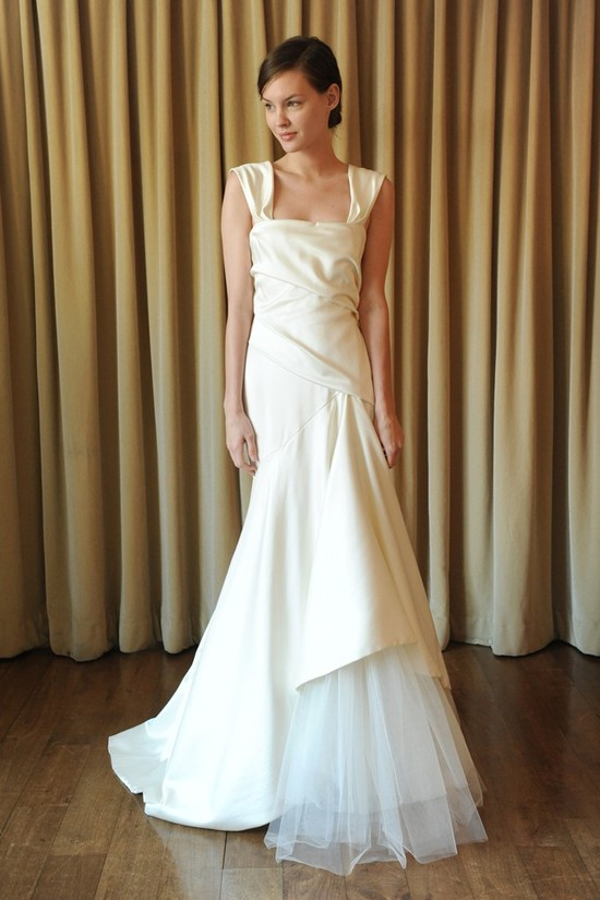 2013 wedding dress trend two tone bridal gowns Temperley London ivory white mermaid