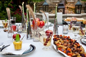 photo of fall wedding reception ideas outdoor dining