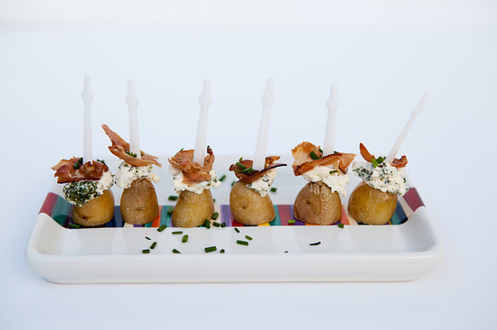 creative wedding reception ideas potato bacon bites