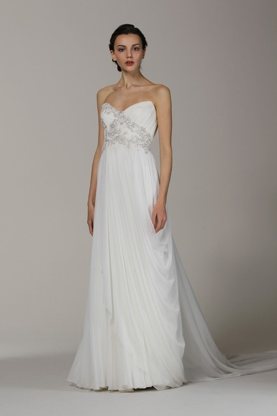Marchesa wedding dress Spring 2013 bridal gowns sweetheart draped