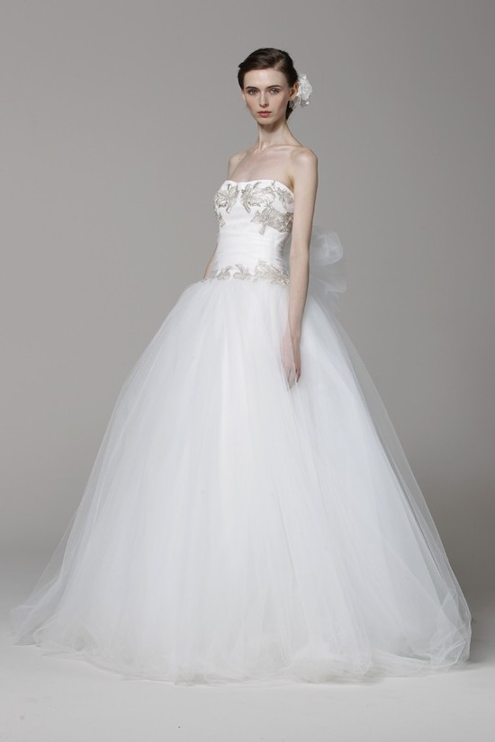 Marchesa wedding dress Spring 2013 bridal gowns ballgown embroidered bodice