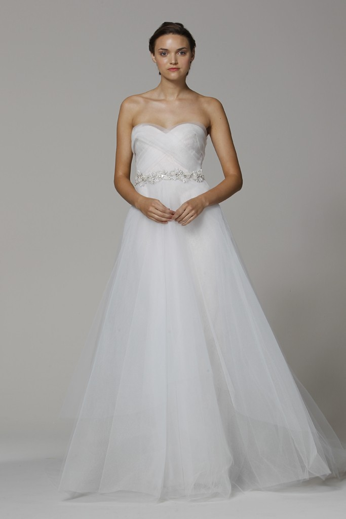 Marchesa wedding dress Spring 2013 bridal gowns a line with belt