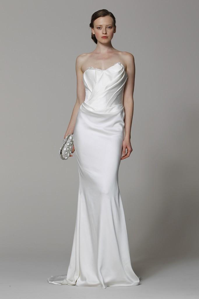 Marchesa Wedding Dress Spring 2017 Bridal Gowns Silk Column