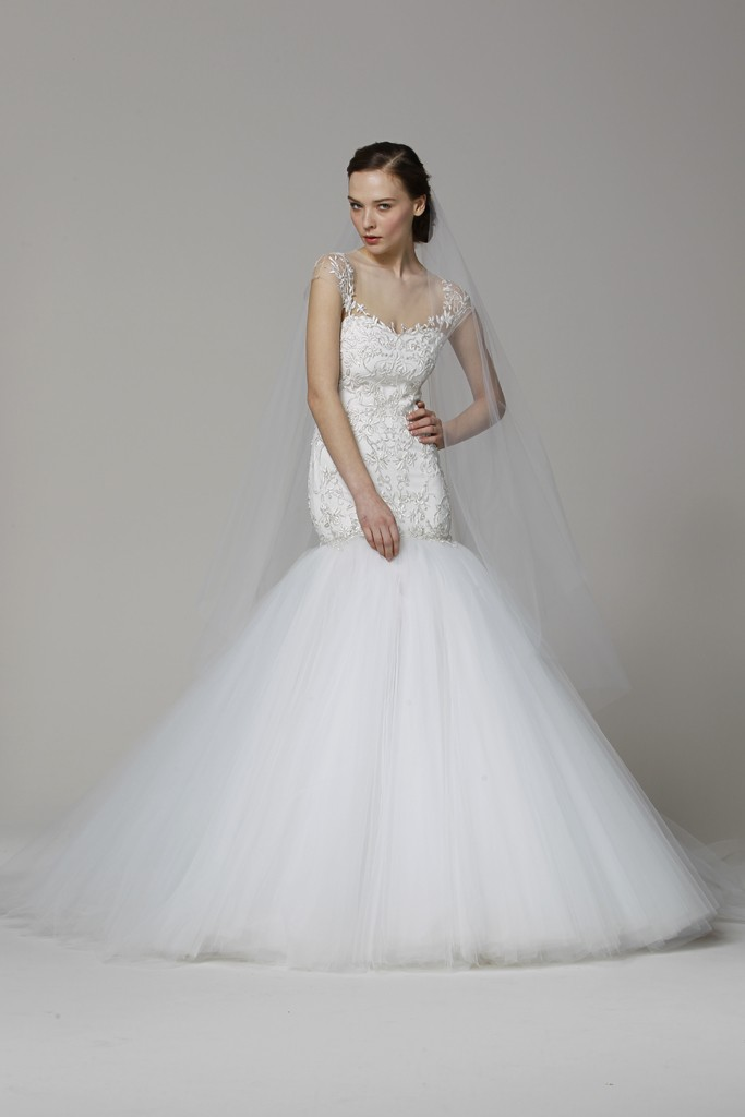 Marchesa Wedding Dress Spring 2013 Bridal Gowns Drop Waist Mermaid