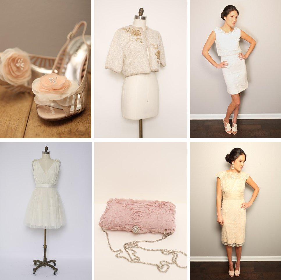 Vintage Wedding Finds For Brides Polka Dot Veil Blush Pink Reception Dress 2