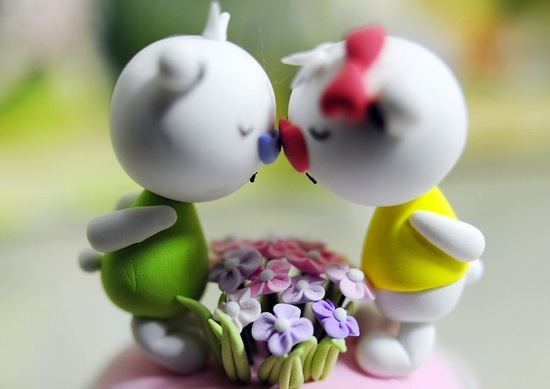 cute wedding cake toppers clay