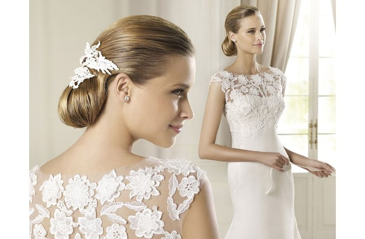 Sleek Vintage Wedding Hairstyle Low Bridal Updo