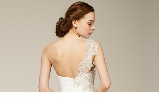 bridal updos wedding hairstyle inspiration 2013 bridal catwalks Marchesa 2