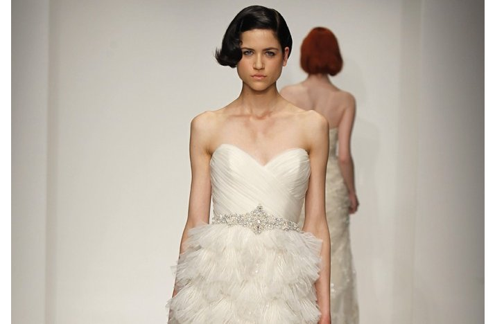 bridal updos wedding hairstyle inspiration 2013 bridal catwalks Kenneth Pool 1
