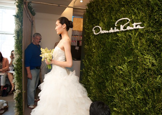 bridal beauty inspiration 2013 wedding dress collections Oscar de la Renta wedding hair ideas buns 2