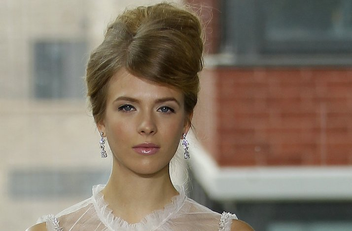 bridal updos wedding hairstyle inspiration 2013 bridal catwalks Rivini 1