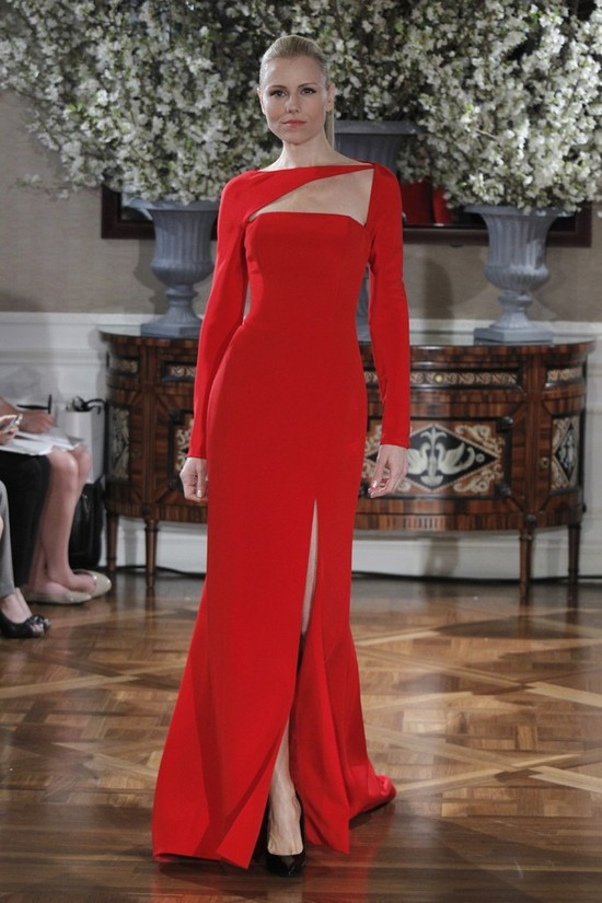 Spring 2013 wedding dress collections Romona Keveza bridal gown red 1