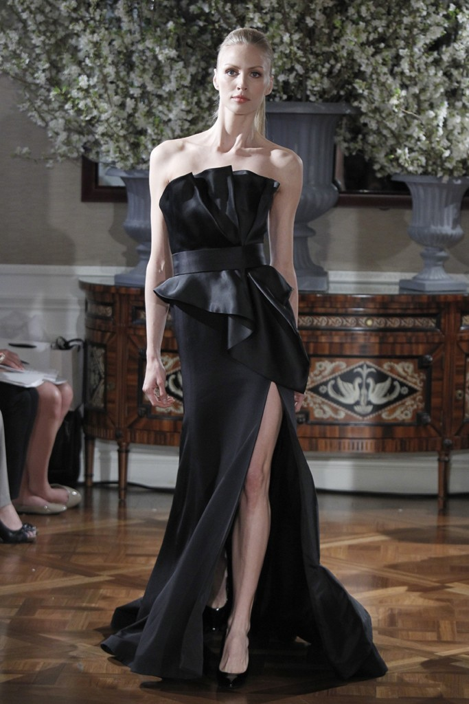 Spring 2013 wedding dress collections Romona Keveza bridal gown black 4