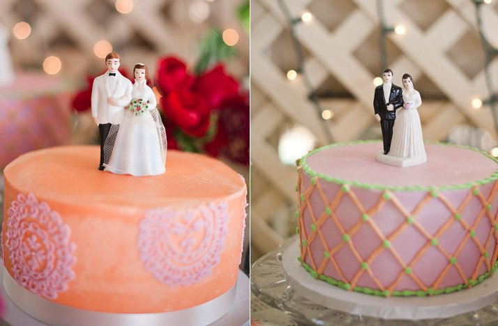 Vintage-wedding-style-multiple-wedding-cakes-vintage-toppers-2.full