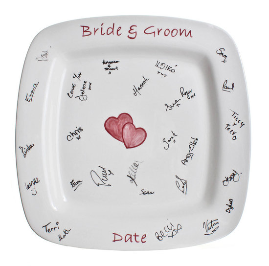 photo of Signature guest book platter