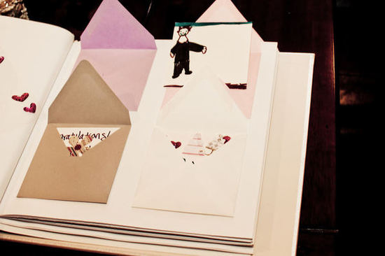 unique wedding guest books envelope album