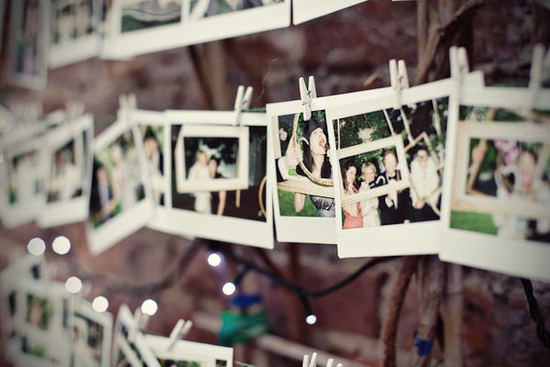 photo of unique wedding guest book ideas poloroids