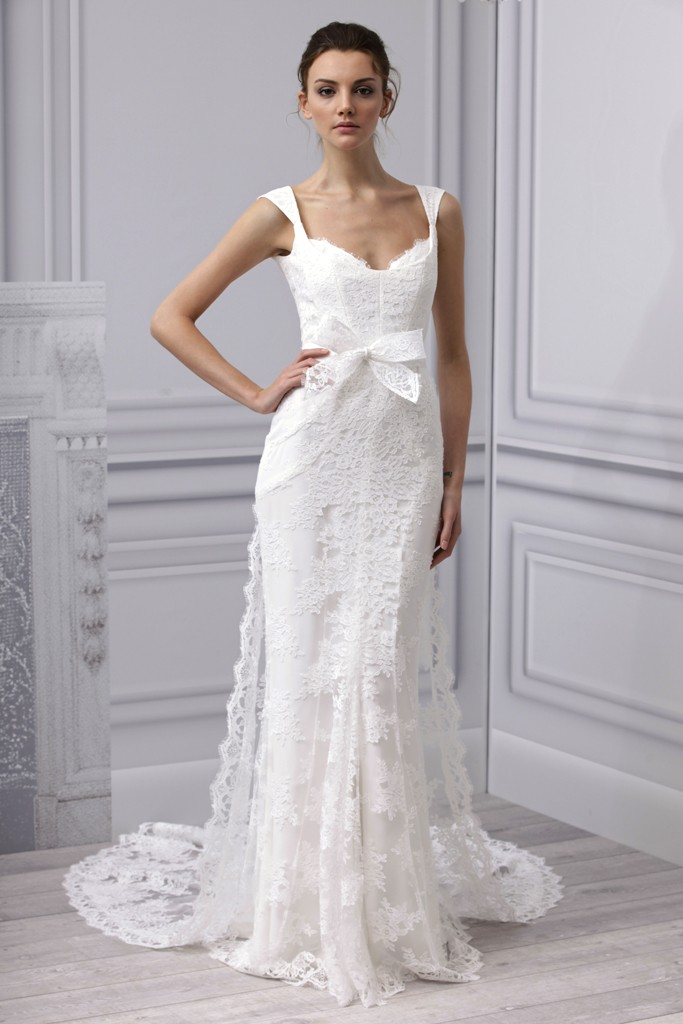 Spring 2013 wedding dress Monique Lhuillier bridal gown ... Lace Mermaid Wedding Dress 2013