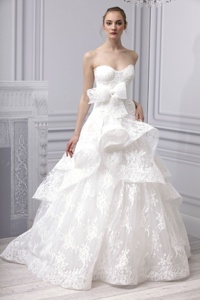 Spring 2013 wedding dress Monique Lhuillier bridal gown lace ...