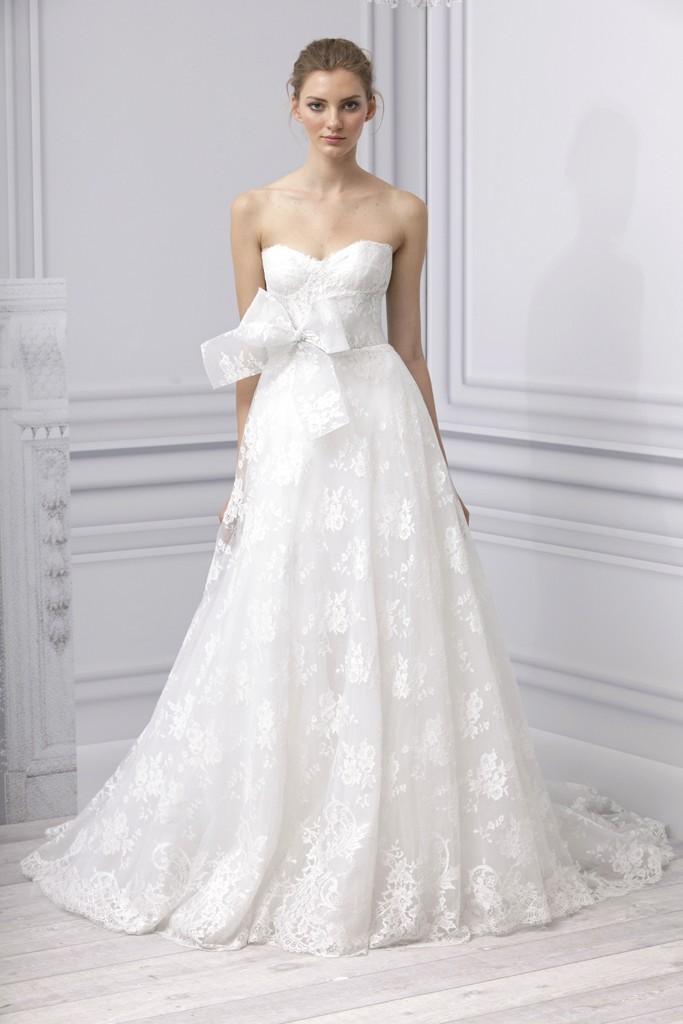 Spring 2013 wedding dress Monique Lhuillier bridal gown a line lace ...