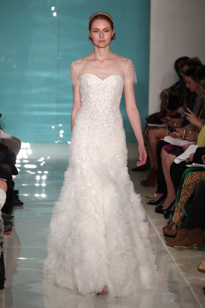 photo of Sheer Goodness + Convertible Magic from Spring 2013 Reem Acra Bridal Collection
