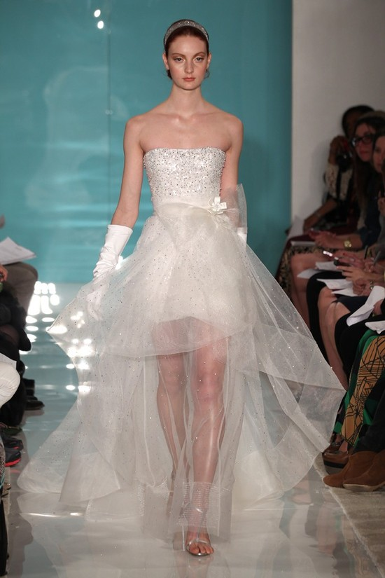 2013 wedding dress trend sheer necklines illusion fabric Reem Acra 3