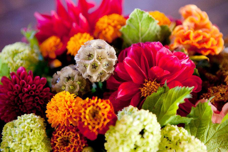 Bright-wedding-flowers-citrus-red-bridal-bouquet.full
