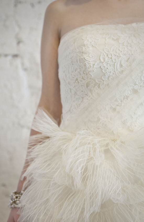 romantic lace vera wang wedding dress