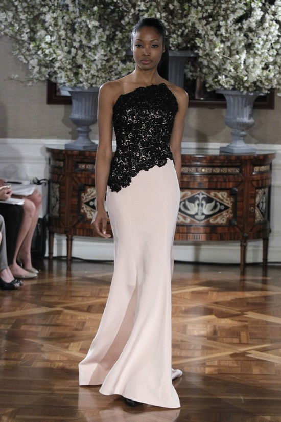 Spring 2013 wedding dress collections Romona Keveza bridal gown black ivory lace
