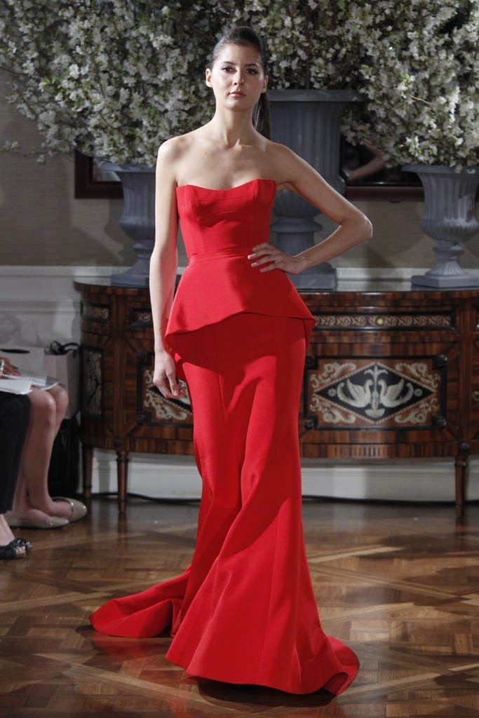 Spring 2013 wedding dress collections Romona Keveza bridal gown red 2