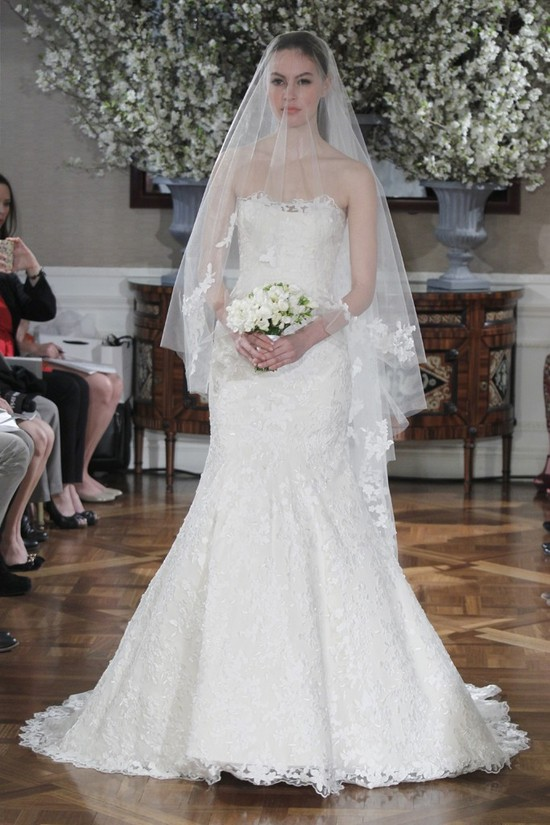 Spring 2013 wedding dress collections Romona Keveza bridal gown lace trumpet
