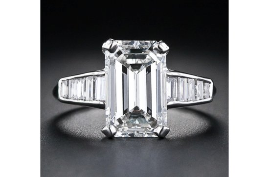 angelina jolie engagement ring emerald cut diamond engagement rings vintage baguettes