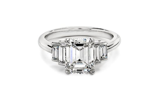angelina jolie engagement ring emerald cut diamond engagement rings ivanka trump
